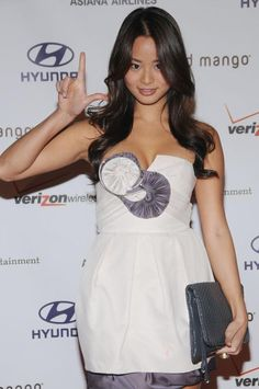 Jamie Chung loves Hyundai Jamie Chung, Strapless Dress, Super Cute, Formal, Celebrities, Outfits, Beauty, Tops, Dresses
