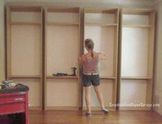 Library Built-Ins:  Getting Started - good tips on building shelves - template for adjustable shelves, etc
