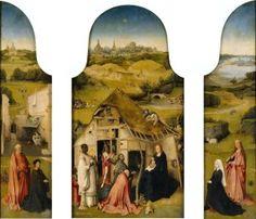Pokłon trzech króli, Hieronim Bosch, tryptyk