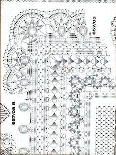 "Photo from album ""Burda special 2007 PORT - Вязание крючком"" on Yandex. Crochet Dollies, Crochet Fabric, Crochet Buttons, Crochet Borders, Crochet Tablecloth, Crochet Stitches Patterns, Crochet Home, Crochet Trim, Love Crochet"