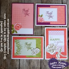 Petal Garden : Graceful Garden : Stampin' Up! : Sandra Mastello : Violet vs Purple