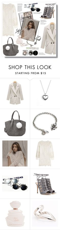 """""""Yesstyle"""" by stranjakivana ❤ liked on Polyvore featuring Furifs, Pandora, LineShow, Sweet Romance, chuu, Valentino, Una-Home, Gianvito Rossi, Seirios and Bobbi Brown Cosmetics"""