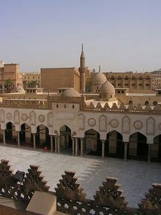 Welcome to the Islamic Holly Places: Al-Azhar Mosque (Cairo) Egypt Mosque Architecture, Ancient Architecture, Beautiful Architecture, Blue Sky Travel, Islamic World, Islamic Art, Visit Egypt, Les Religions, Beautiful Mosques
