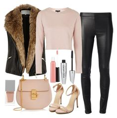 """""""Untitled #1316"""" by mihai-theodora ❤ liked on Polyvore featuring Joseph, River Island, Topshop, MAC Cosmetics, Chloé and Givenchy"""