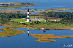 Birds Eye View, Bodie Light on the Outer Banks of North Carolina.