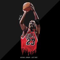 "The ""Last Shot"" by 13TH VISION : https://www.facebook.com/13thvision  #MichaelJordan #ArtJordan #AirJordan #Bulls #Nike #Jordanbrand"