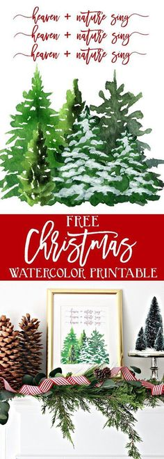 Heaven and Nature Sing Christmas Printable