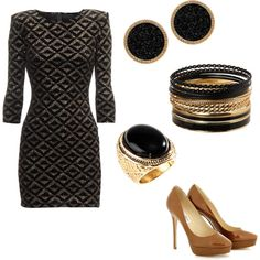 I'm in love with black and gold! So classic