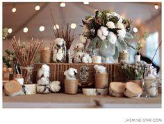 decoracao, algodão, casamento