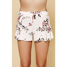 Kendall Kylie Floral Swing Shorts ($27) ❤ liked on Polyvore featuring shorts, floral shorts, flower print shorts, floral print shorts, lightweight shorts and floral printed shorts