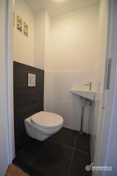 Mooi voorbeeld wc tegels wc pinterest kleur - Deco toilet grijs ...