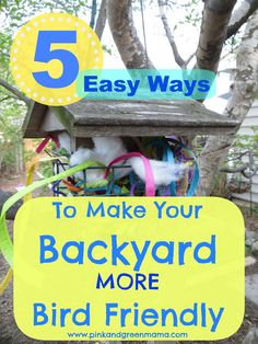 5 Easy Ways Make Your Backyard More Bird Friendly from Pink and Green Mama