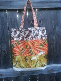 Reusable Tote Shopping Bag  Vinyl Vegetable by DeltownCreations, $27.00