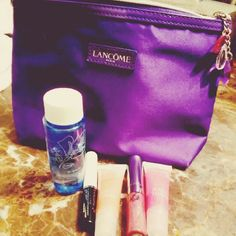 NWT 6-piece Lancome Makeup + Bag Set of Lancome makeup and gift bag. This is only a few weeks old and has never been opened!  1 makeup bag 1 Eye makeup remover 1 Mascara 3 lipglosses  Please check my other Lancome listing (or the bundle) - I will let you Build Your Makeup Bag Lancome Makeup