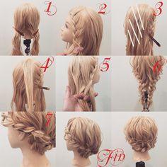 Fryzura na Emmę Kawaii Hairstyles, Pretty Hairstyles, Braided Hairstyles, Wedding Hairstyles Tutorial, Hair Arrange, Braids For Long Hair, Different Hairstyles, Hair Dos, Bridal Hair