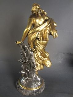 Buy online, view images and see past prices for Auguste Moreau, French - Invaluable is the world's largest marketplace for art, antiques, and collectibles. Antique Auctions, Bronze Sculpture, Antique Gold, October, Statue, French, Antiques, Art, Sculptures