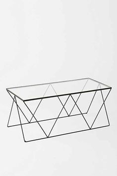 I like the idea of this table with the geometric metal base and the light frame maybe we can find a higher quality version -- Magical Thinking Diamond Coffee Table - Urban Outfitters Coffee Table Design, Coffee Tables, Coffee Mugs, Design Furniture, Modern Furniture, Coffee Table Urban Outfitters, Furniture Inspiration, Design Inspiration, Shabby Chic Design