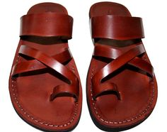 Brown Bath Leather Sandals