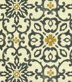 Home Decor 8''x 8'' Fabric Swatch-HGTV HOME Souvenir Scroll Fog