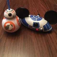 Disney Star Wars bundle! Bundle of star wars R2D2 Mickey ears hat and a BB8 reusable cup. Let me know if you have any questions! Star Wars Accessories Hats