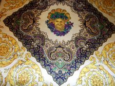 Striking beautiful huge vintage scarf baroque by CHEZELVIRE, $16.00