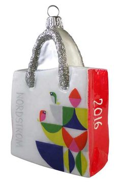 Nordstrom at Home 'Bird' Glass Shopping Bag Ornament