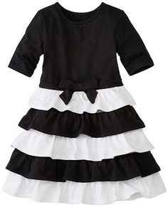 Hanna Andersson Girls Skater Dress With Ruffle Skirt - Girls Size:120 (6-8 Years)