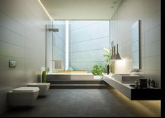 What a beautiful contemporary bathroom. Perfect for the minimalist. Mimar Interiors