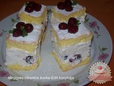 Hungarian Cake, Hungarian Recipes, Cake Bars, No Bake Desserts, My Recipes, Cheesecake, Muffin, Food And Drink, Pudding