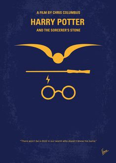 Harry Potter and the Sorceror's Stone (2001) ~ Minimal Movie Poster by Chungkong #amusementphile