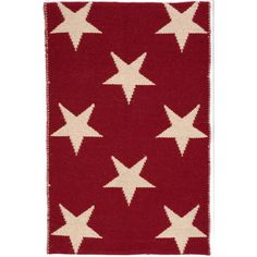 Star Indoor/Outdoor Rug in Red & Ivory design by Dash & Albert ($65) ❤ liked on Polyvore featuring home, rugs, cream rug, red area rugs, red rugs, handmade rugs and ivory area rugs