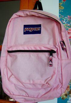 VINTAGE! JANSPORT Backpack PINK School Bookbag Hiking 90's W/ 2 Pockets Sections #JanSport #Backpack