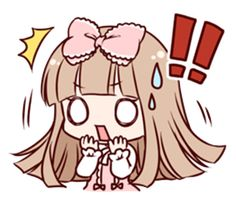 Girls of Lolita fashion such as the doll. The angry and laughing, crying, can be used in various situations stamp of two expressive. Chica Gato Neko Anime, Chibi Cat, Anime Girl Neko, Cool Anime Girl, Chibi Girl, Cute Anime Chibi, Anime Stickers, Kawaii Stickers, Cute Stickers