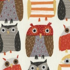 Owls in Bone (Dear Stella House Designer - Woodwinked)