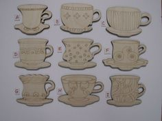 Image result for teacup wooden cutting