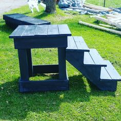 Mounting block made from repurposed materials
