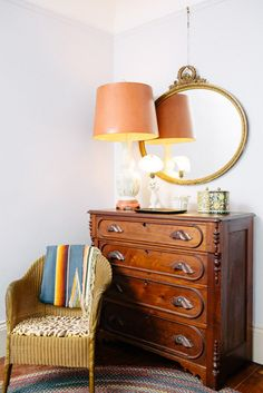 chair with dresser/sideboard