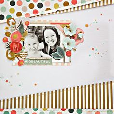 #papercraft #Scrapbook #layout.  My Creative Scrapbook: layout by Stephanie Buice