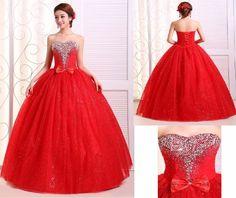 28befb4b0 Por Encargo 5700 Vestido De 15 Anos Rojo Sonado Oferta