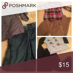 Boys 6 bundle 3 boys size 6 shirt and pant sets. All three $15. Gently worn. Thanks Matching Sets