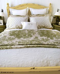 yellow bed from Home by Heidi featured at The Lettered Cottage