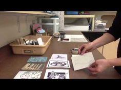 Printmaking: Transferring an image onto linoleum - YouTube
