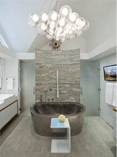 Relaxing Contemporary Bathroom by Mary Anne Smiley