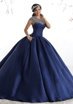 New house party outfit formal Ideas Sweet 16 Dresses, 15 Dresses, Ball Dresses, Cute Dresses, Beautiful Dresses, Ball Gowns, Fashion Dresses, Dresses Online, Navy Blue Quinceanera Dresses