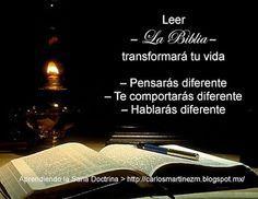 Carlos Martínez M_Aprendiendo la Sana Doctrina: LEER LA BIBLIA TRANSFORMARÁ TU VIDA...