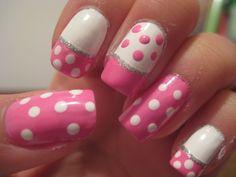 polka dot nail art | 25+ Lovely and Vintage Polka Dot Nail Art Designs | EntertainmentMesh