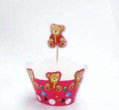 Cupcake Toppers and Wraps 12 Cupcake Wrappers & by MilenaCrochet, $12.00