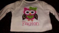 Owl Appliqued Shirt by SouthernBlingBowtiqu on Etsy, $18.00