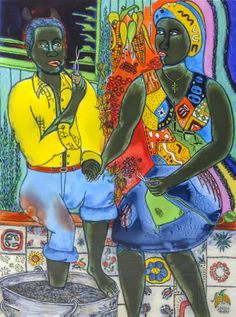 'After the work, an Afro-American couple enjoying the evening' by gheider Framed Prints, Canvas Prints, Art Prints, Afro, Spur, Couples, Painting, Dreams, Glass