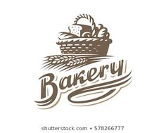 Find Bread Basket Logo Vector Illustration Bakery stock images in HD and millions of other royalty-free stock photos, illustrations and vectors in the Shutterstock collection. Cupcake Outline, Logo Outline, Bakery Logo Design, Graph Design, Cake Logo, Vintage Logo Design, Professional Logo Design, Logo Food, Logo Design Inspiration